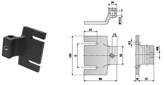 akcesoria dla fotokomórek, komponenty, linia produkcyjna Zacisk