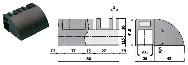 akcesoria linii transportujących Element łączący