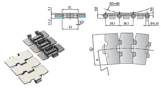 łańcuch stalowy, z tworzywa, komponenty, linia produkcyjna