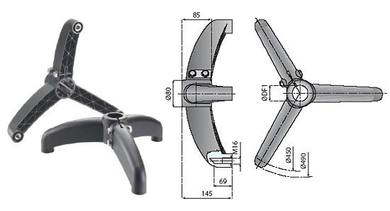 trójnogi, dwunogi, komponenty, linia produkcyjna