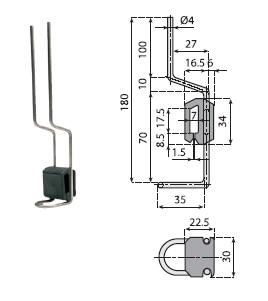 podpory, podpórki boczne, komponenty, linia produkcyjna