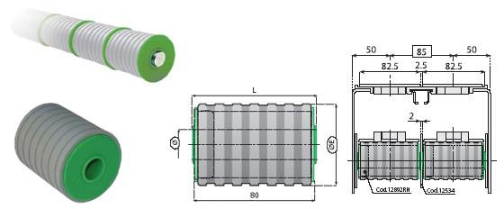 rolka bierna, komponenty, linia produkcyjna